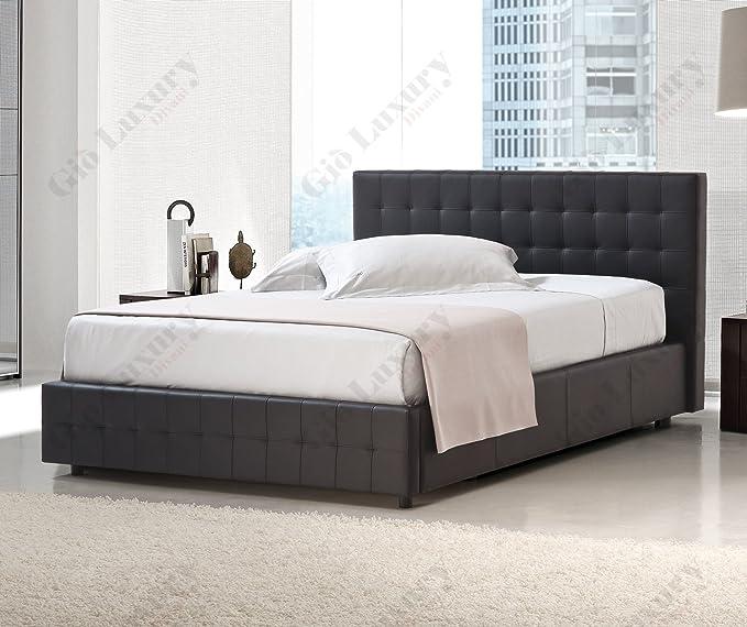Doble cama acolchada con cajoneras