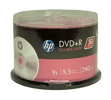 b3d8bcb8a3b627 Amazon.com  HP DVD+R DOUBLE LAYER BRANDED 8X 8.5GB 240min Video  Home Audio    Theater