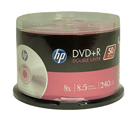 HP DVD R DOUBLE LAYER BRANDED 8X 85GB 240min Video