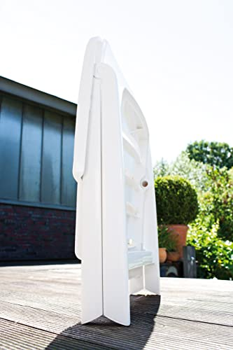 Kettler Nizza Resin Folding Chair White Matte Finish