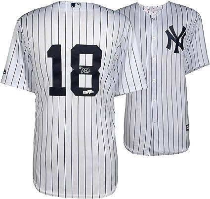 super popular 27173 0414e Didi Gregorius New York Yankees Autographed Majestic White ...