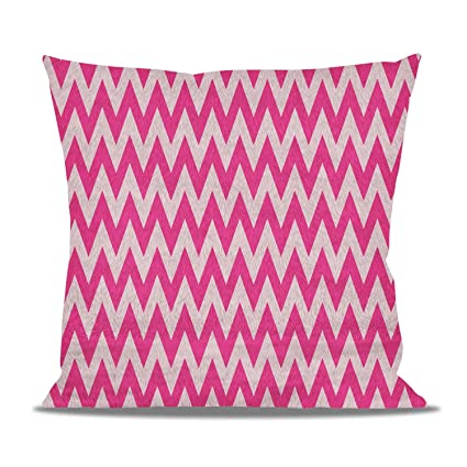 Pink fleece cushion