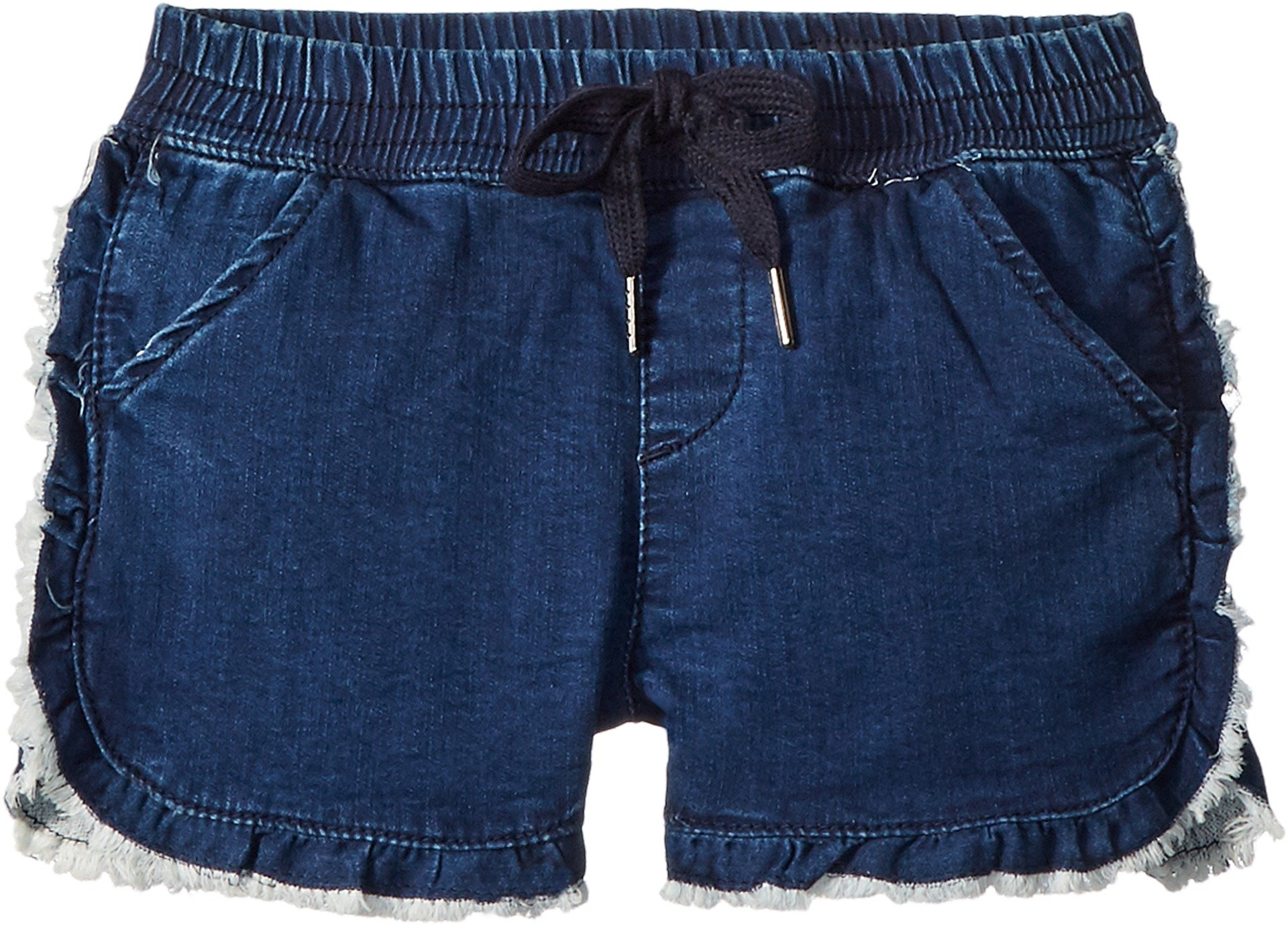 AG Adriano Goldschmied Kids Girl's The Lily Ruffle Pull-on Shorts (Big Kids) Navy/Hickory Large