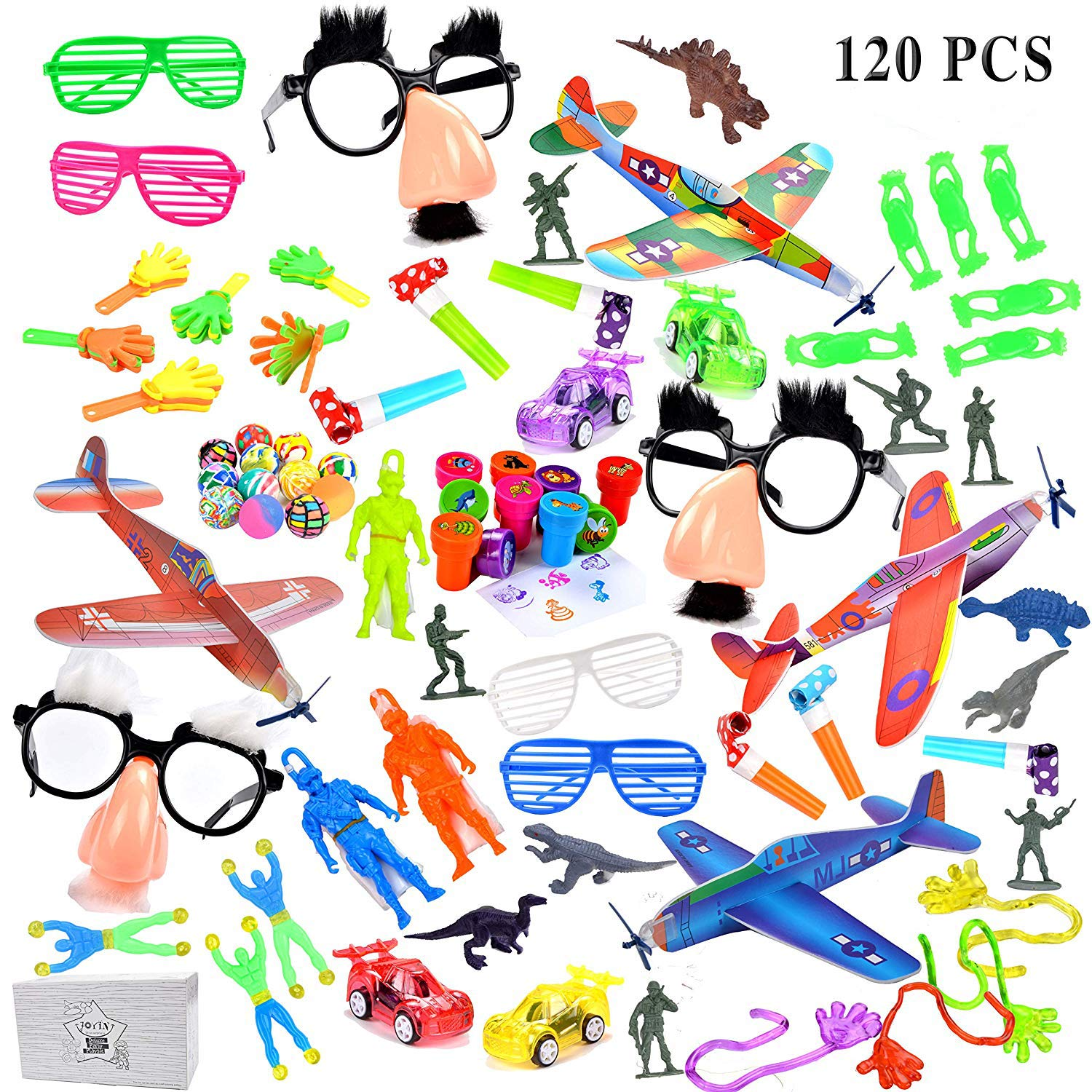 joyin 120pc party favor for kids toy assortment birthday party school classroom rewards carnival prizes pinata fillers and goodie bags fillers