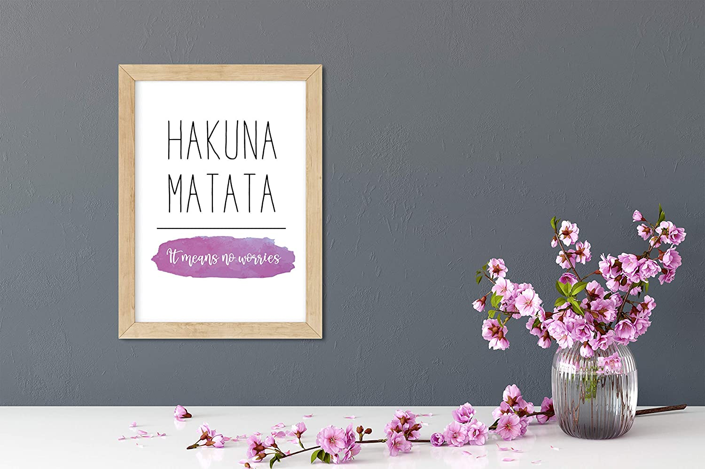 Modern Print Hakuna Matata Colourful Wall Art Home Wall Art Living Room Print