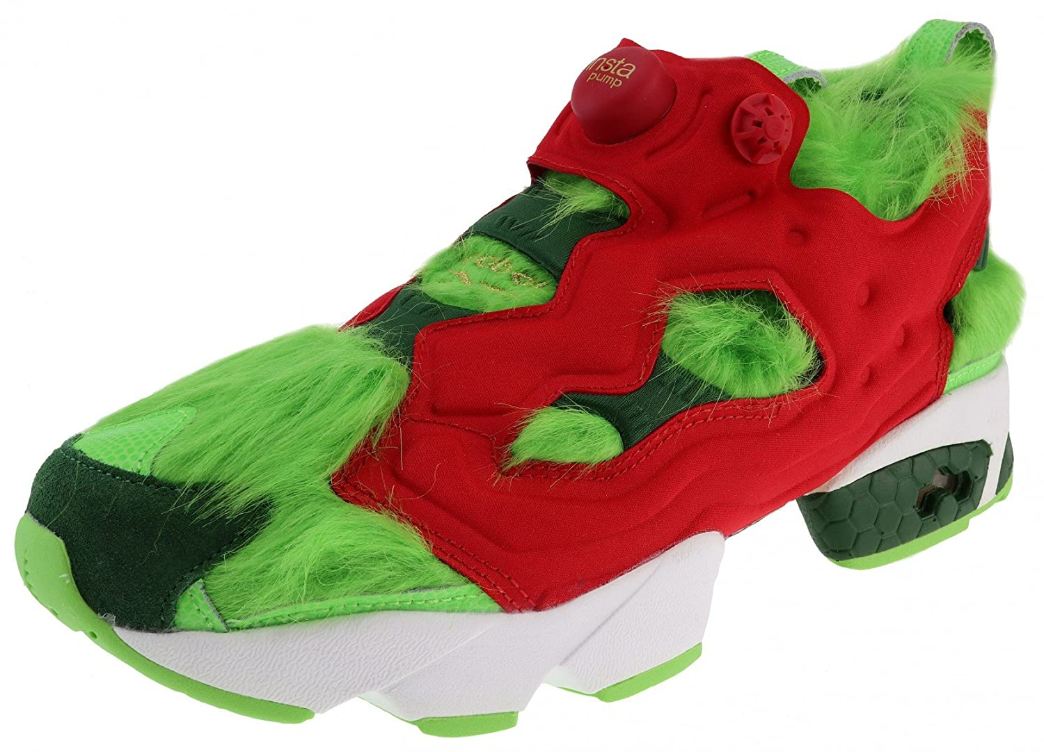 Reebok Instapump Fury CV Grinch, Solar Green-Scarlet-Pine Green-Gold Metallic-White 45.5_us12.0_uk11.0_cm30.0m|Green Red