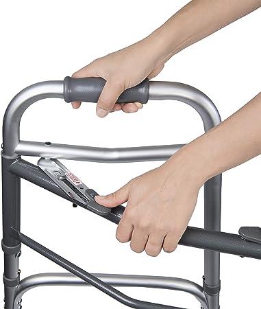 Amazon.com: Andador plegable con ruedas y patas desmontables ...