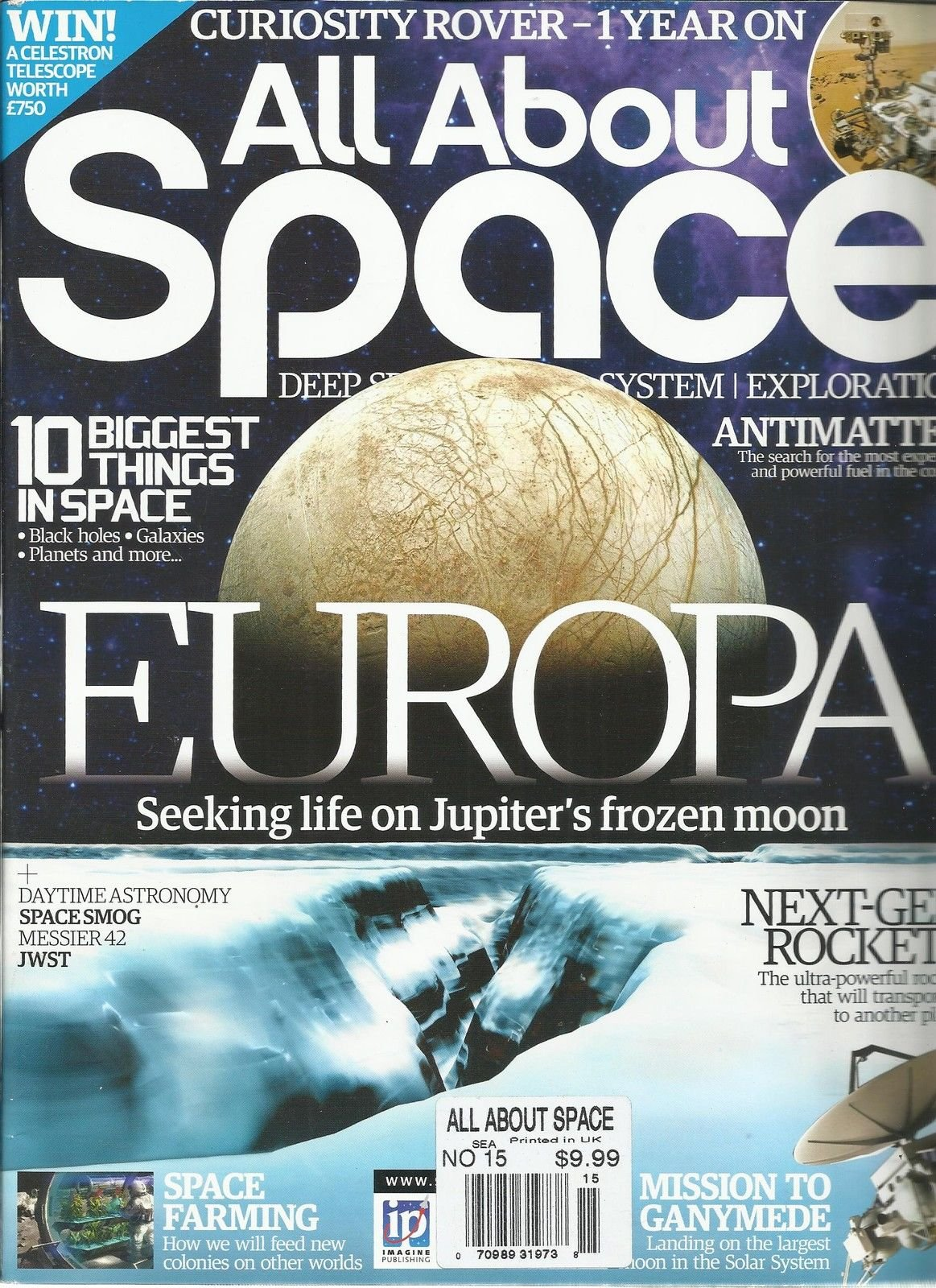 ALL ABOUT SPACE, NO.15 (DEEP SPACE SOLAR SYSTEM EXPLORATION * 10 BIGGEST