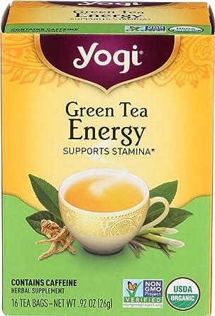 Yogi Tea Green Tea Energy, Herbal Supplement, Tea Bags, 16 ...