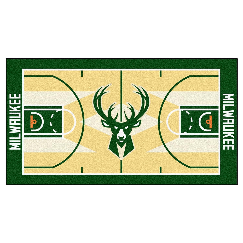 FANMATS 9494 NBA Milwaukee Bucks Nylon Face NBA Court Runner-Small
