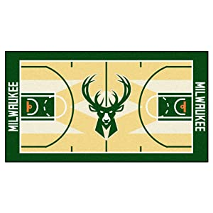 FANMATS NBA Milwaukee Bucks Nylon Face NBA Court Runner-Small