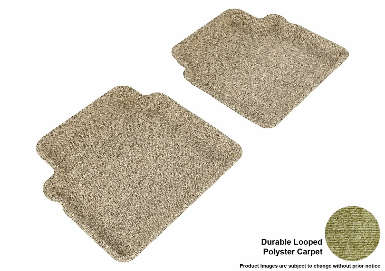 L1CH00822202 Classic Carpet Tan 3D MAXpider Second Row Custom Fit All-Weather Floor Mat for Select Chevrolet Aveo Models