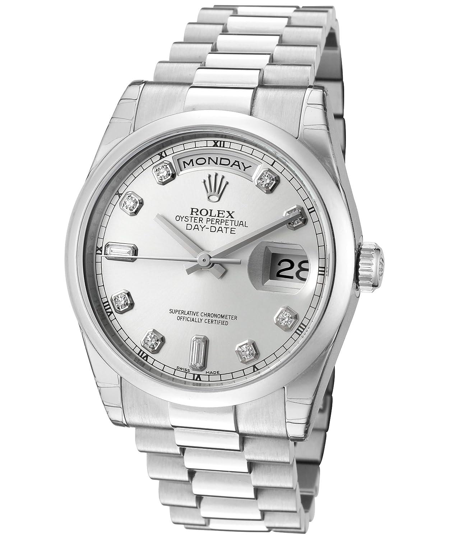 Amazon.com Rolex Men\u0027s Day,Date Automatic White Diamond