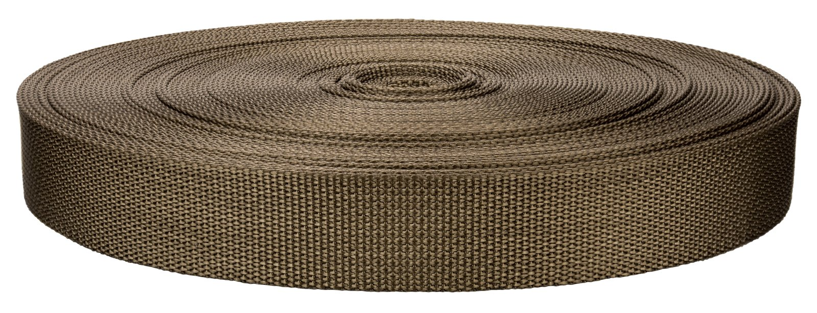 1 Inch Marpate Coyote Tan Lite Weight Nylon Webbing Closeout - 10 yards