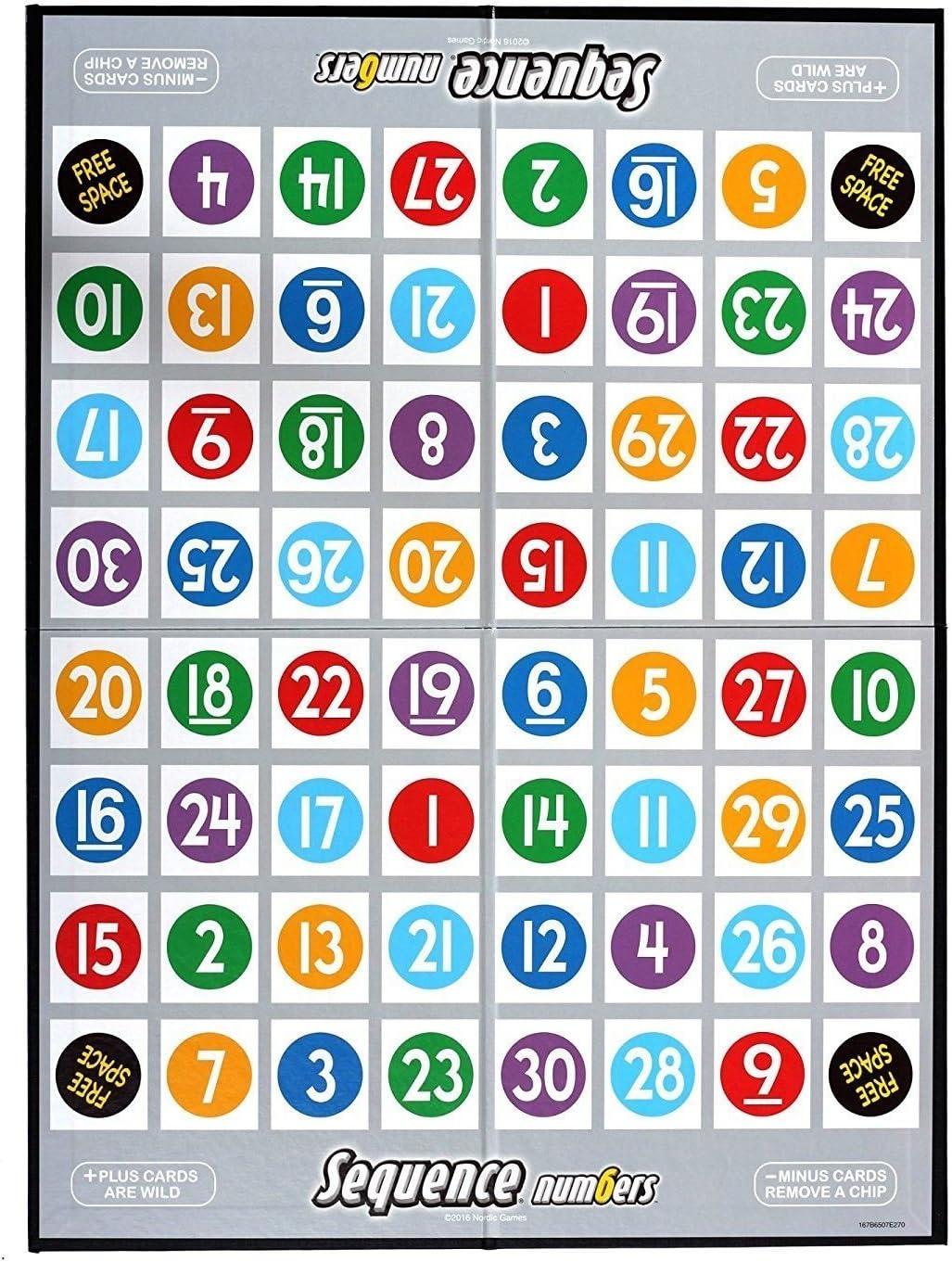 Sequence Númerios juego de mesa: Amazon.es: Juguetes y juegos