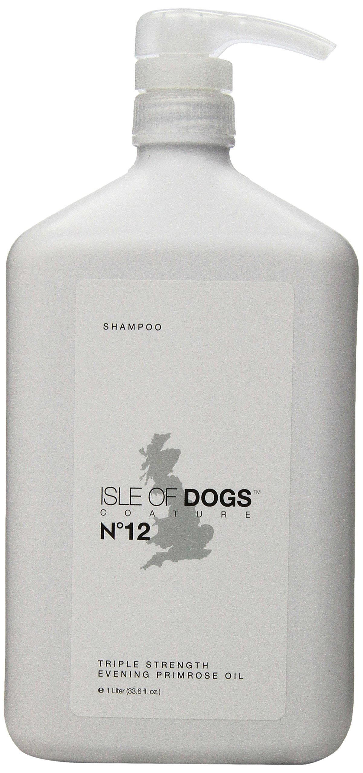Isle of Dogs Coature No. 12 Veterinary Grade Evening Primrose Oil Dog Shampoo for itchy or Sensitive Skin, 1 liter by Isle of Dogs