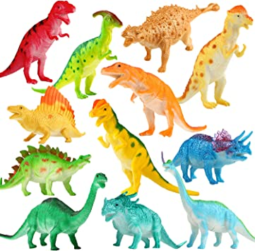 Pack of 15pcs Mixed Types Mini Dinosaur Model Preschool Kids Educational Toy/_ST