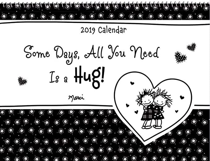 Amazon 2019 Calendar Some Days All You Need Is A Hug 9 X