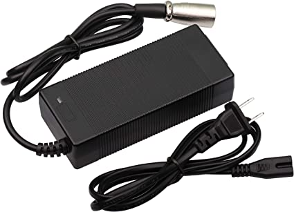 amazon.com: 36v charger 42v 2a battery charge with 3-pin xlr connector male  for crazy cart xl mini dirt 650 power wheelchair: home audio & theater  amazon.com