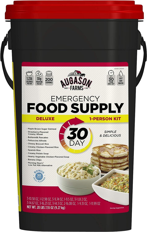 Augason Farms 30-Day Emergency Food Storage Supply 29 lb 4.37 oz 8.5 Gallon Pail (Pack of 4)