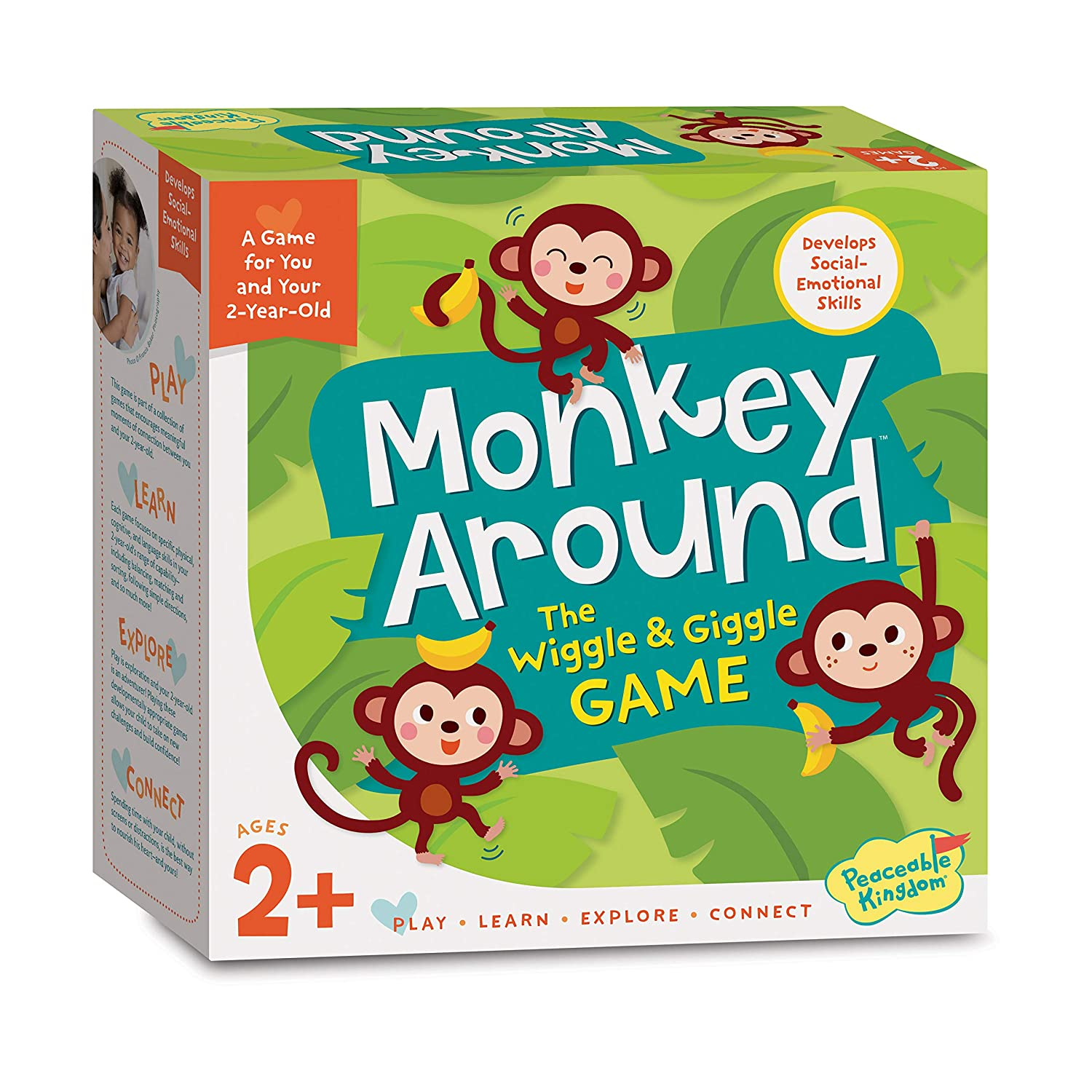 Peaceable Kingdom Monkey Around Time for Two – A Game for You and Your Two Year Old $18