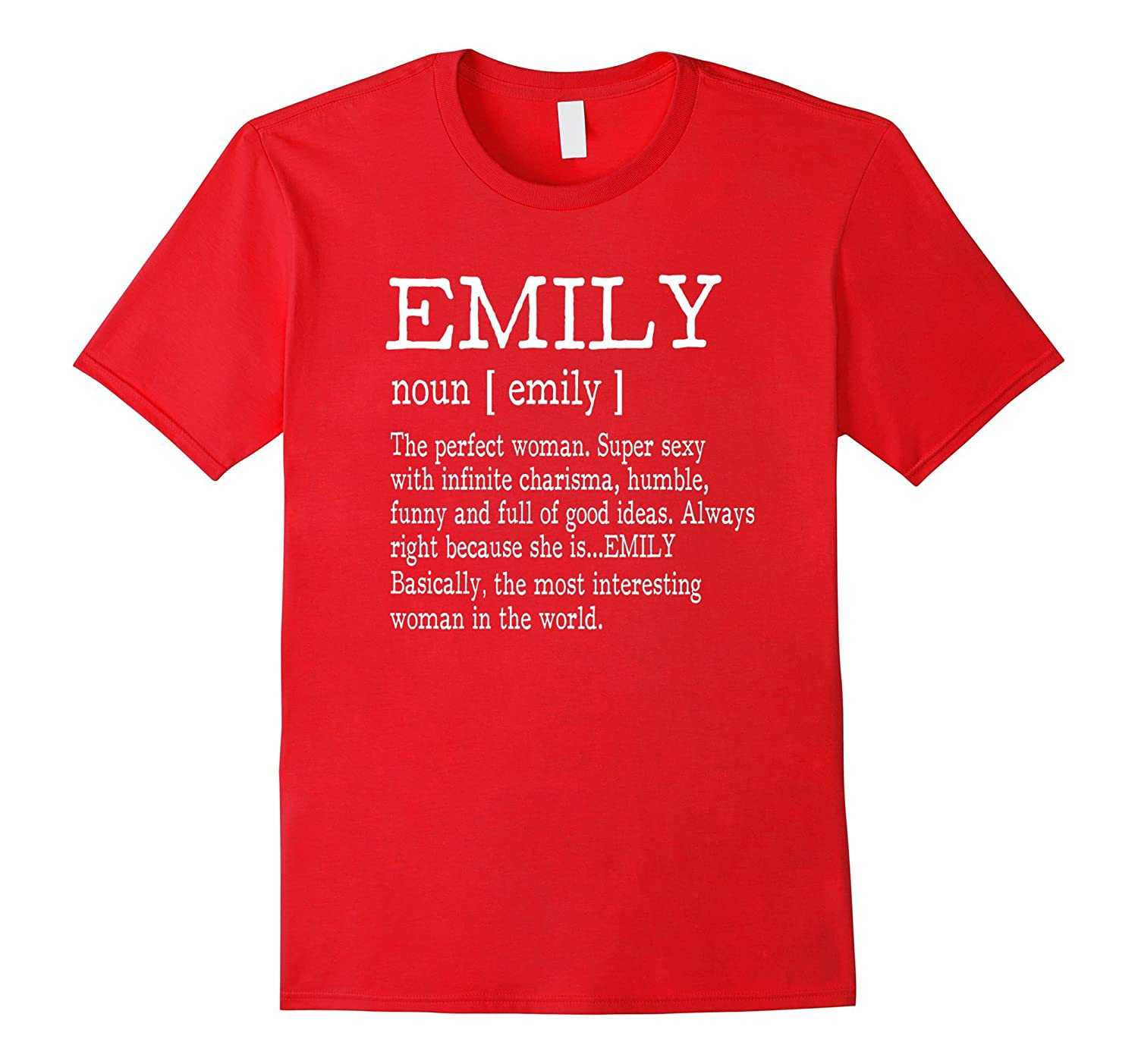 Adult Definition - First Name Emily - Ladies T-Shirt Funny-Rose