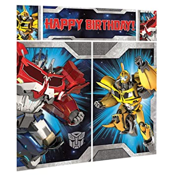 6ft Transformers Scene Setters Kits Giant Happy Birthday