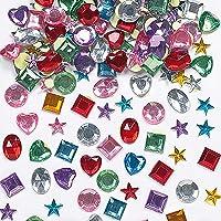 Baker Ross zelfklevende acryl sierstenen - om te knutselen en op te plakken voor kinderen - voor wenskaarten en kostuums…