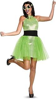 Womenu0027s Powerpuff Girls Buttercup Deluxe Fancy dress costume Teen  sc 1 st  Amazon UK & Womenu0027s Powerpuff Girls Bubbles Deluxe Fancy dress costume Teen ...