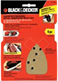 Black & Decker 74-586H Assorted Finishing/Detail Sandpaper with Tips, 5-Pack