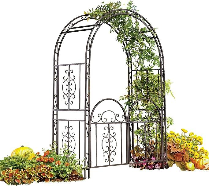 Amazon Com Plow Hearth Montebello Decorative Garden Arbor