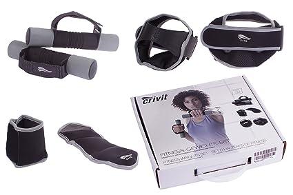 Crivit Sports Pesas de fitness® – Kit de 6 piezas, gris-negro