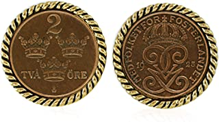 product image for Swedish Coin ORE Crown Cufflinks
