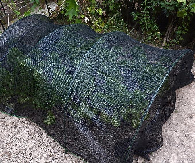 Malla negra resistente de protección solar para jardines, flores y plantas, resistente a los rayos UV, 40 % de sombra: Amazon.es: Jardín