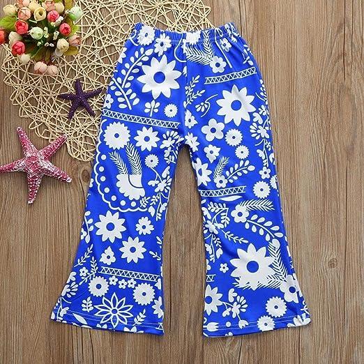 Covermason Niños Ropa Venta de liquidación Niños pequeños Bebés y niñas Pantalones acampanados Leggings elásticos florales(3T, Azul): Amazon.es: Productos ...