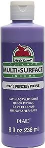 Apple Barrel Multi-Surface Paint in Assorted Colors (8 oz), Princess Purple