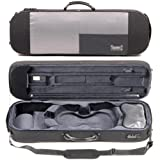 Bam Stylus 5001S 4/4 Violin Case with Black Exterior and Silver Interior