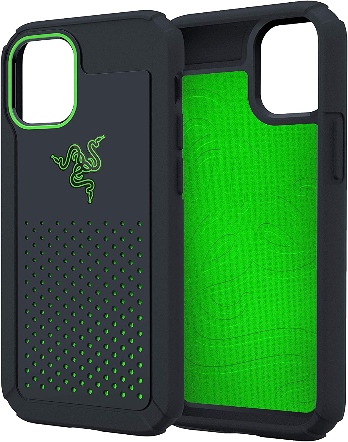 Razer Arctech Pro for iPhone 12 and iPhone 12 Pro Case: Thermaphene & Venting Performance Cooling - Wireless Charging Compatible - Drop-Test Certified - 5G Compatible - Matte Black