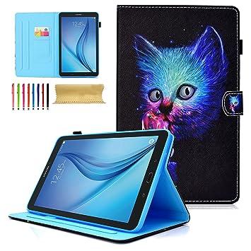Dteck - Funda de Piel sintética para Samsung Galaxy Tab E de 9,6 Pulgadas