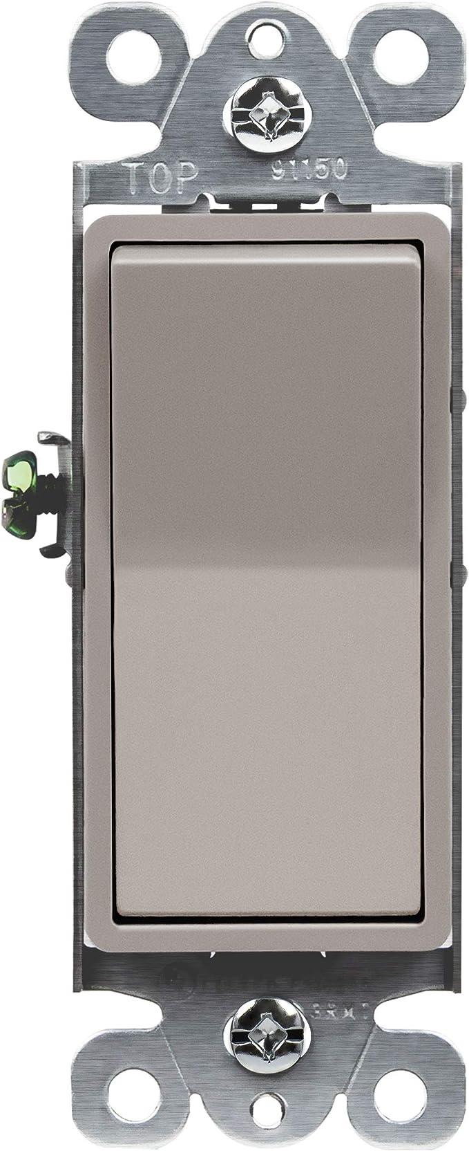 Amazon.com: Enerlites 91150 - Interruptor basculante de 15 ...