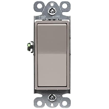 Rocker Light Switch >> Enerlites Elite Series Decorator Rocker Light Switch 15a 120v 277v Single Pole 3 Wire Grounding Screw Residential Grade Ul Listed 91150 Nk