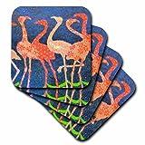 3dRose CST_16804_1 Flamingos with Attitute-Soft