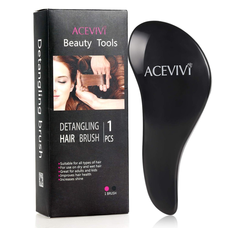 ACEVIVI Detangling Brush or Comb Styling Brush For Adults & Kids, wet & dry hair, Black