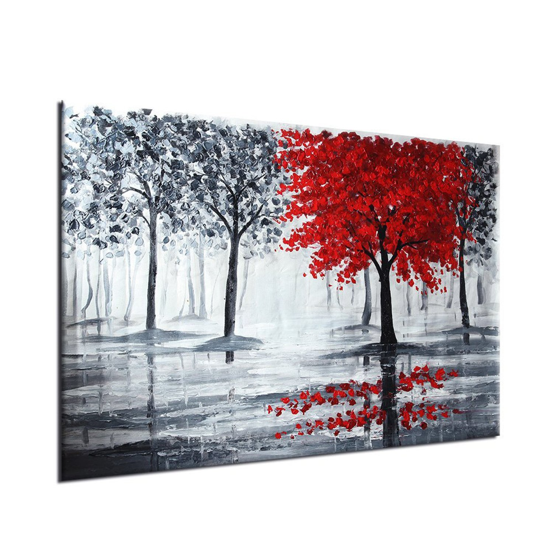 Raybre Art® 60 x 90cm 100% Pintada a Mano sobre Lienzo Cuadros Negro ...