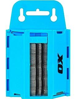 OX - Juego P222110 de cuchillas resistentes y profesionales con dispensador - Azul/negro -