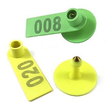 zhengcheng Pack de 100 sello de seguridad sello pl/ástico herramienta de ganado marca auricular Universal R