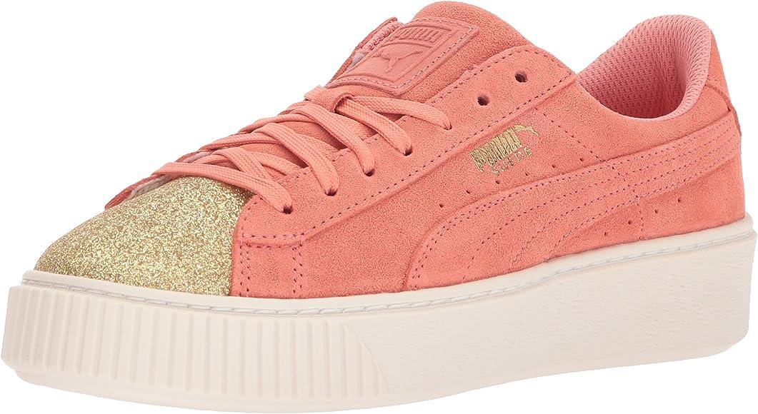 PUMA Kids' Suede Platform Glam Sneaker