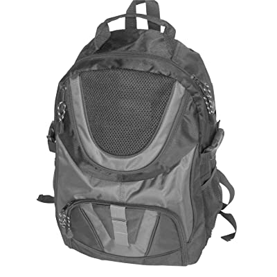 School Smart Dual Pocket Nylon Backpack with Multiple Compartments and  Cushioned Straps - Gray 4b76244cd960e