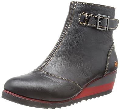 Art Michigan-84 - Botines de cuña, talla: 36 EU / 3 UK, color: negro - negro: Amazon.es: Zapatos y complementos