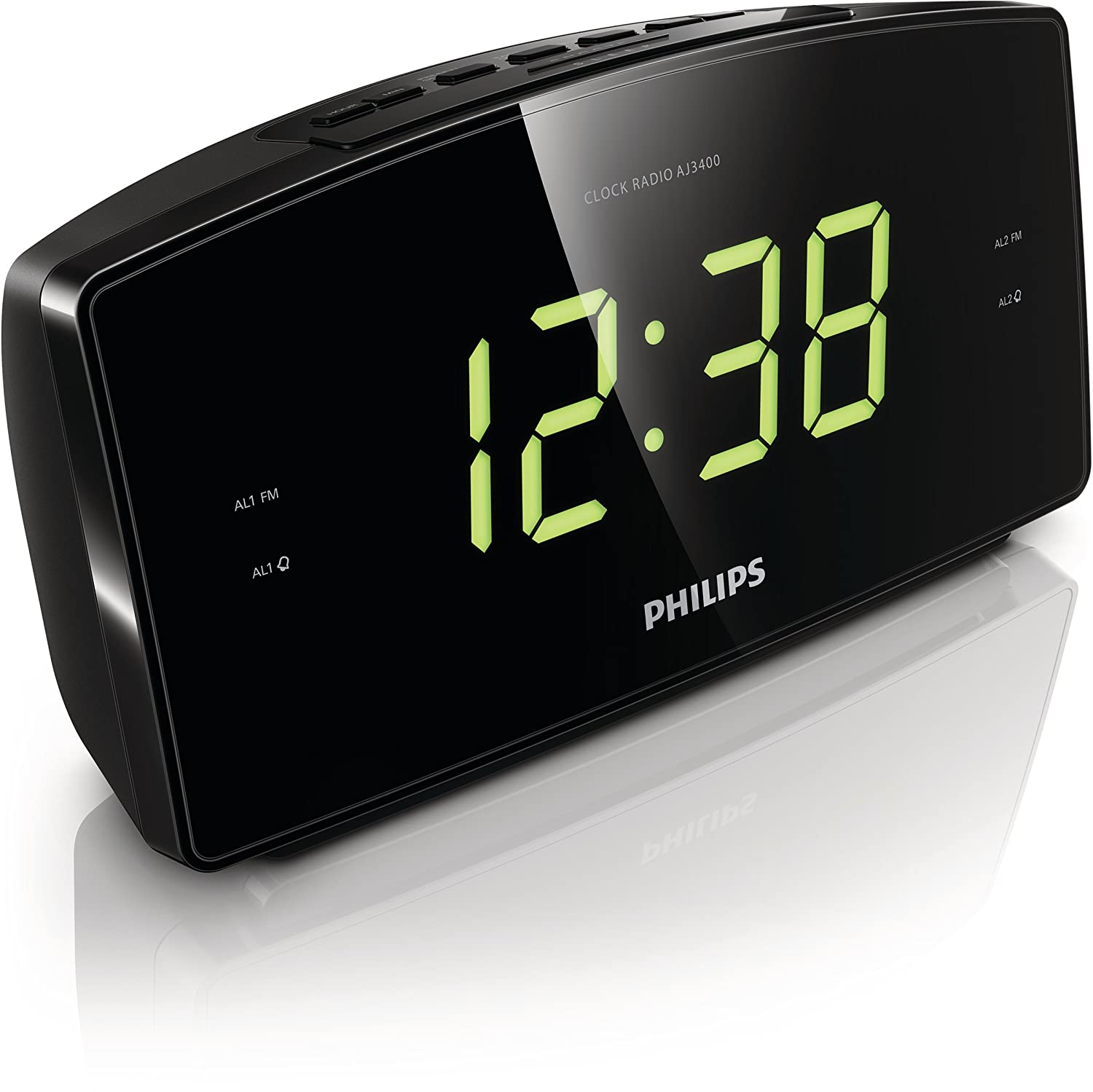 Philips AJ3400/05 - Radio (Reloj, FM, 87,5-108 MHz, 0,4 W, LED, Verde): Amazon.es: Electrónica